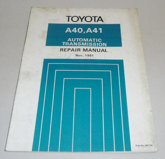 Workshop Repair Manual Workshop Manual Toyota Automatic