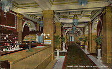 Chicago USA postcard ~1920/30 Lobby an Office at the Plaza Hotel inner view
