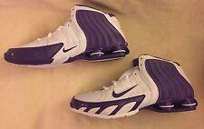 Nike Flight Zoom Air Shox Athletic Sneakers Basketball White/Purple Shoes Mens15
