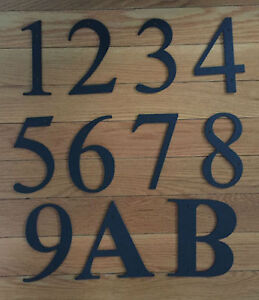 Image Is Loading Black Metal 6 034 House Numbers Wrought Iron