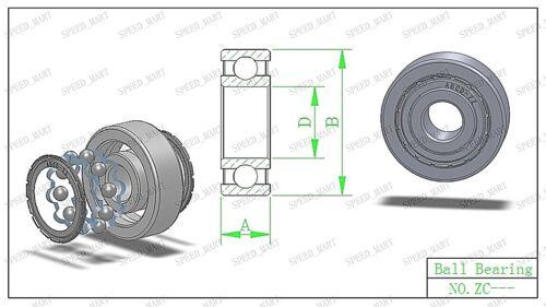 8mm*12mm*3.5mm 5 pcs MR128zz Mini Metal Double Shielded  Ball Bearings