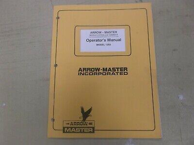 [SCHEMATICS_4LK]  Arrow Master 1350 Breaker Mobile Hydraulic Hammer Owner Operator Manual |  eBay | Operator Wiring Diagram For Master |  | eBay