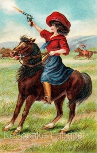 Lady on Horseback Shooting Quilt Block Multi Sizes FrEE ShiPPinG WoRld WiDE
