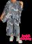MYO-Lagenlook Oversize Big-Kasten-Shirt Tunika Steigbügel blau 46,48,50,52,54,56