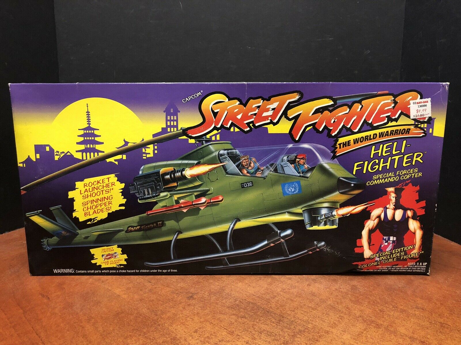 Capcom Street Fighter Heli-Fighter Copter Sealed Dela0615