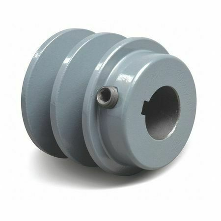 "Tb Wood/'s 2Bk3058 5//8/"" Fixed Bore 2 Groove Standard V-Belt Pulley 3.15/"" Od"