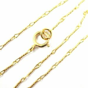 3c259bdc7299a Details about 22K Gold plated over Sterling Silver Necklace 6.7mm Fancy  Twisted Link (16