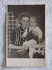 "1946 Vintage Black & White Mother & Child 5 1/4"" x 3 1/2"""