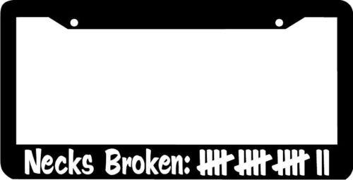 necks broken plate holder jdm License Plate Frame