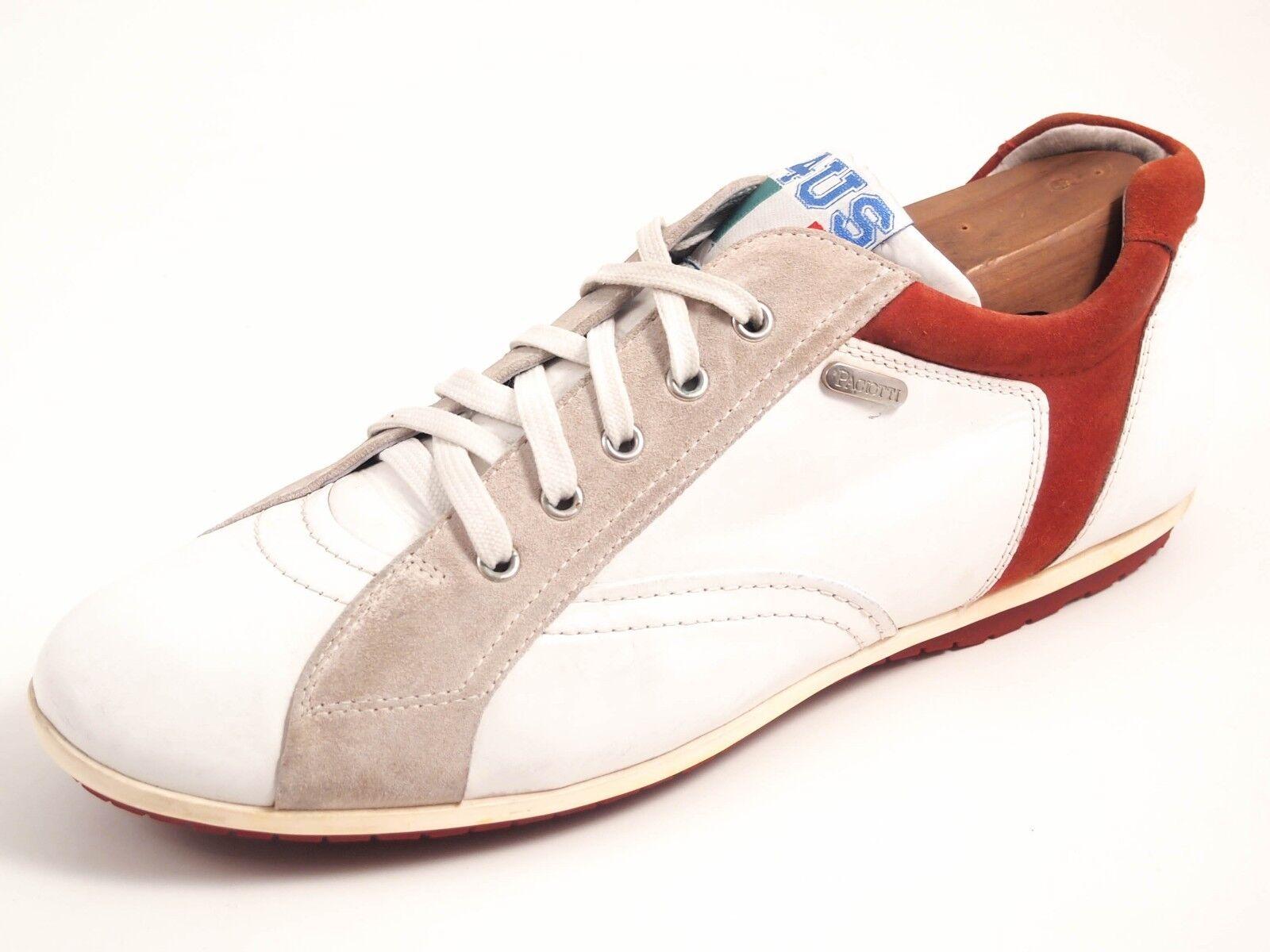 Paciotti Turnschuhe, UK Weiß Leder,men's shoe Größe UK Turnschuhe, 9 EU 43 7f8d22