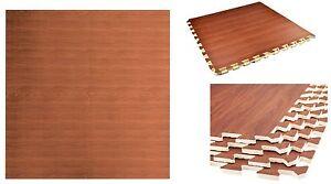 Wood effect eva interlocking soft foam mat laminate flooring tiles