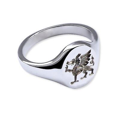Ausdauernd Solid 925 Sterling Silver Welsh Dragon Signet Ring 14x12mm 925 Uk Hm & Gift Box Ein Unbestimmt Neues Erscheinungsbild GewäHrleisten