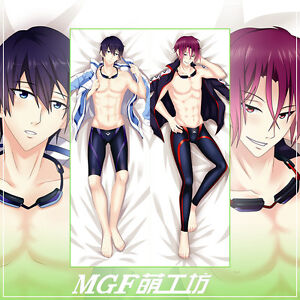 Japanese Anime Free Free Eternal Summer Pillow Case Cover Hugging Body