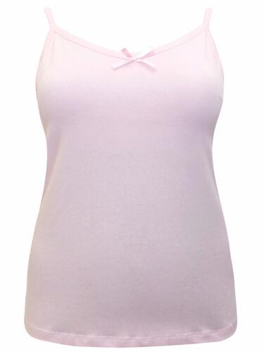 Ladies 3vans Pink Strappy Secret Support Adjustable Strap Cami Vest Top 18-32