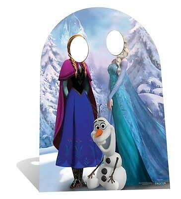 Anna and Elsa with Olaf Disney Frozen Cute Child Size Standin Cardboard Cutout