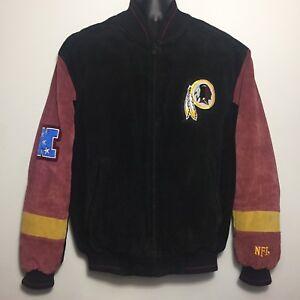 size 40 3c0a9 17089 Details about Vintage WASHINGTON REDSKINS Leather Suede NFL NFC East Jacket  (MEDIUM)