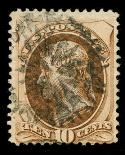 momen US Stamps #161 Used Weiss GEC1 NYFM Cancel