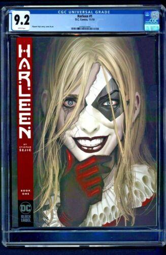 Harleen #1 CGC 9.2 1st First Print Edition Stjepan Sejic Story Cover DC Black