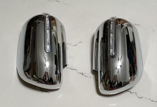 Chrome Side Mirror Cover Trim with Light For 2006-2013 Suzuki Grand Vitara Set