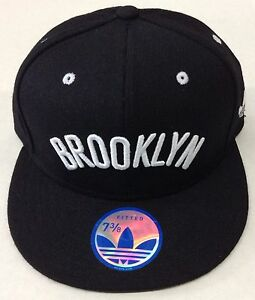 c95d2758d4a NBA Brooklyn Nets Adidas Fitted Cap Hat Beanie Style  G063M NEW!