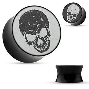 acrilico-plastica-tunnel-plug-piercing-3D-holografie-TESCHIO-DONNA-UOMO