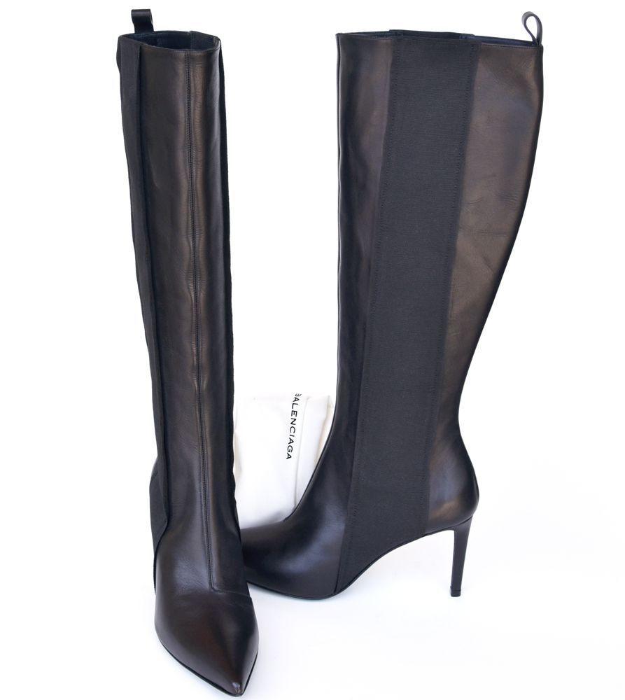Balenciaga New sz 39.5 - 9 Authentic Designer Womens Heels Shoes Boots black