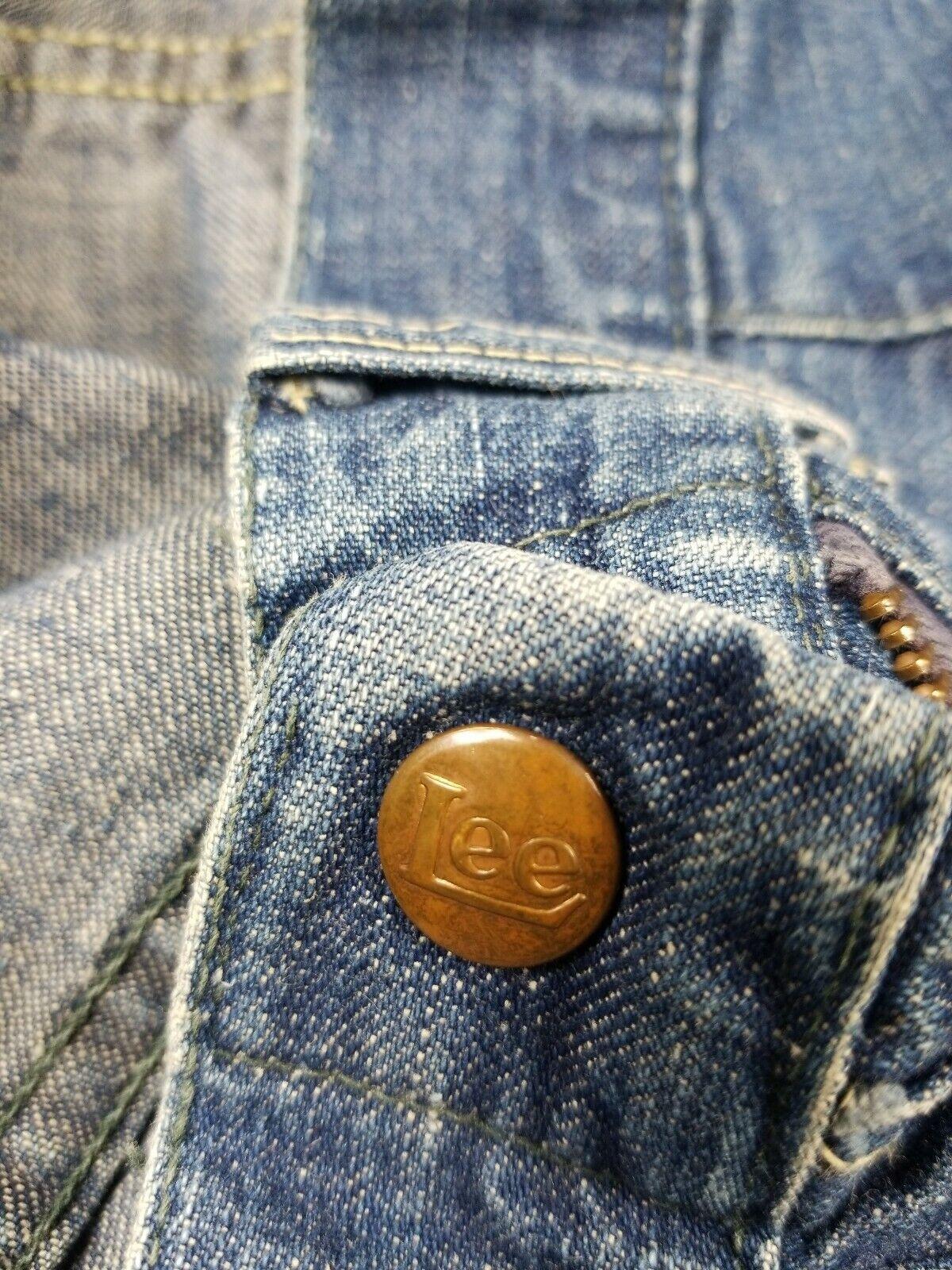 Vintage 1940s Lee High Waisted Side Zip Jeans Usa… - image 8