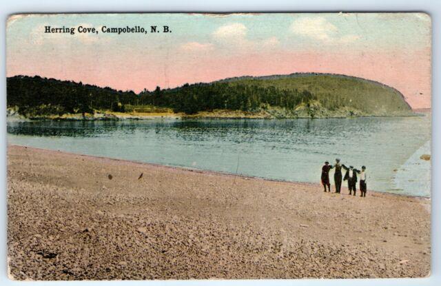 Vintage Postcard Herring Cove Campobello NB New Brunswick Canada
