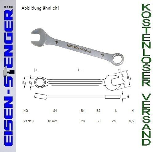 PROXXON Ring-Maulschlüssel, 18 mm No 23918