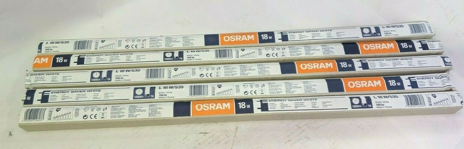 5x Real Osram Fluorescent Tubes T8 18W Tube Light L18W 535 1150 lm 13000h EA2405