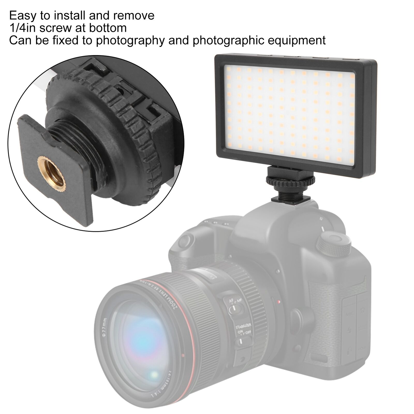 LED Video Light Photography Fill In Light 3200K-5600K Color Temperature LED Lamp