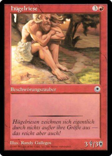 "MTG Details about  /Magic the Gathering show original title card /""Hill Giant/"" German MINT"