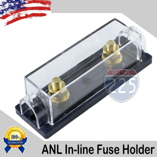 ANL GOLD Inline Fuse Holder Universal Ring Terminal Connection Marine Grade USA