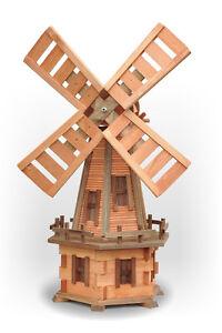Tuin houten windmolen tuinmolen windmolens130cm ebay - Construire un moulin a vent de jardin ...