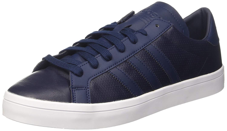 adidas Originals Men's Court Vantage Classic Sneakers Minimal Tonal Sneakers