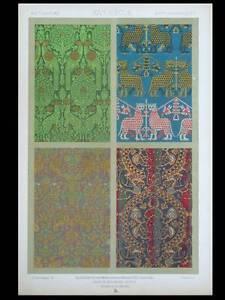 Humble Tissus Moyen Age, Hom - Lithographie 1877 Ornementation, Dupont-auberville Circulation Sanguine Tonifiante Et Douleurs D'ArrêT