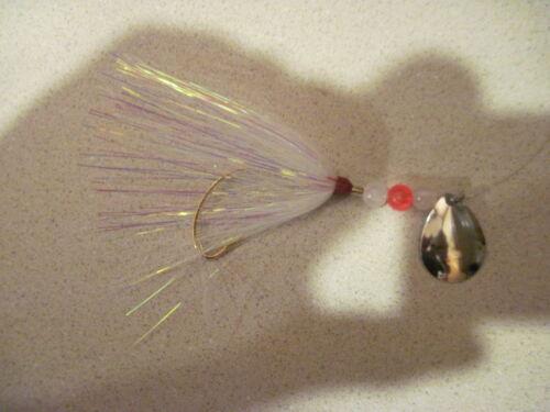 BEST FLUKE RIG FLOUNDER RIGS 5 MYLAR BUCKTAIL HAND TIED BOTTOM FISHING  6 COLORS