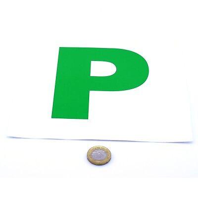 2x Nuevo Controlador P Placa Pegatinas Seguridad Coche alumno sólo pasado Vinilo Signos legal