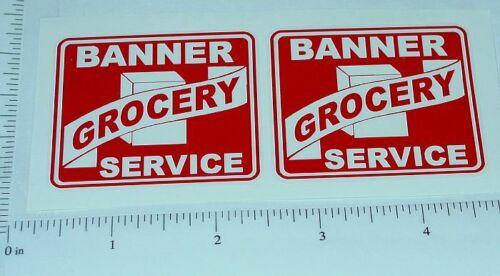 Banner Grocery Service Truck Sticker Set         BN-004