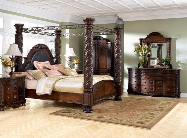 Ashley Furniture B553 North Shore Queen Or King Mansion Bed Frame Bedroom Set For Sale Online Ebay