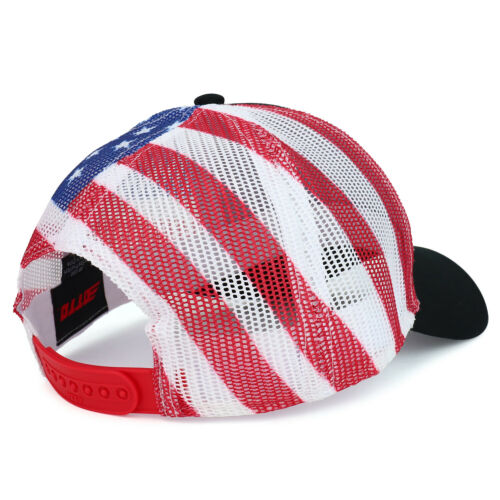 American Flag Printed Mesh Back Structured Trucker Cap FREE SHIPPING