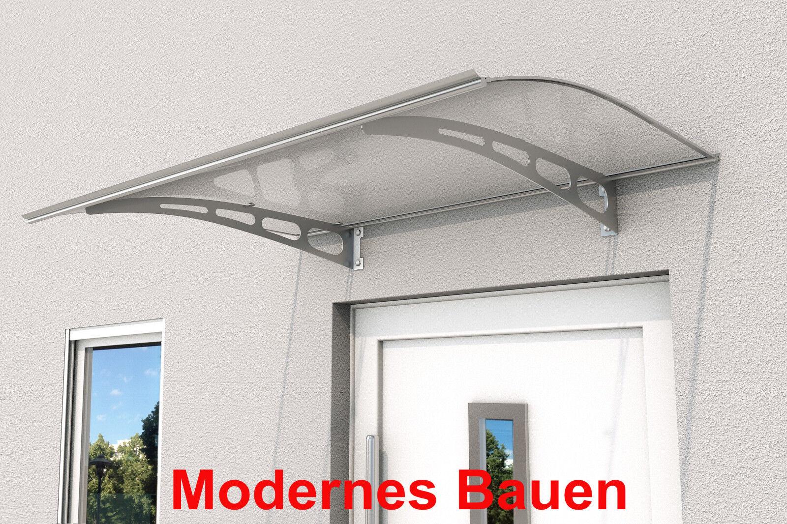 Gutta Pultvordach Vordach PT AL 140 x 90 cm   Polycarbonat klar   Träger Stahl