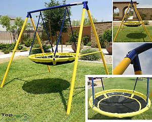 Image Is Loading Playground Swing Set Toddler Outdoor Backyard Kids UFO