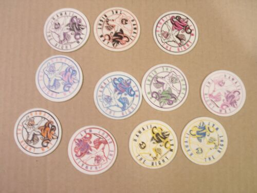 HAWAII THE RIGHT WAY  SET/LOT of (11) DIFFERENT MILKCAPS/POGS
