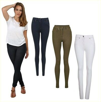 Aktiv New Ladies Skinny Fit Coloured Stretchy Jeans Womens Jeggings Trousers Size 8-20 Vertrieb Von QualitäTssicherung