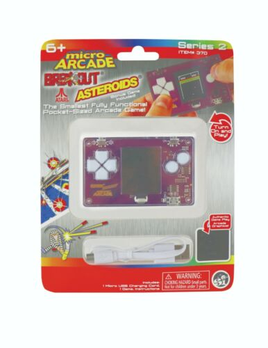 Micro Arcade Atari Series 2 Includes Breakout, Asteroids, and Pong