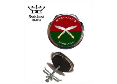 THE PARACHUTE REGIMENT Gaunt style Chromed Brass Car Badge B4.005