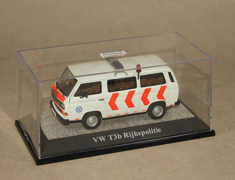 Premium Classixxs 1:43 - VW t3 B rijkspolitie-POLIZIA-in plastica vetrina