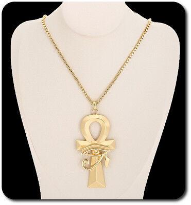 Halskette Kette Und Anhänger Horus Auge Horusauge Kreuz Ägyptischen Sonnengott Dauerhafte Modellierung