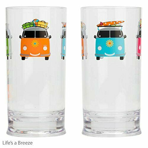 VW Camper Smiles Printed Acrylic Tall Tumbler 17oz  480ml By Flamefield